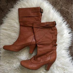 Steven by Steve Madden Shoes - Steven madden leather upper slouch boot