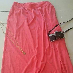 Pure Energy Coral/Melon Maxi Skirt