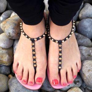 Kurt Geiger Shoes - Elena KG Kurt Geiger Studded Spiked Sandals Flats