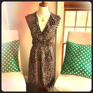Milly Minis Dresses & Skirts - Milly New York 100% Silk Chevron Ruffle Dress Sz 4