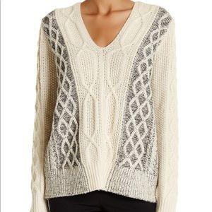 10 Crosby Derek Lam Sweaters - Derek Lam 10 Crosby- V-Neck Pullover Sweater Cream