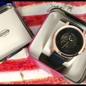 Fossil men leather watch
