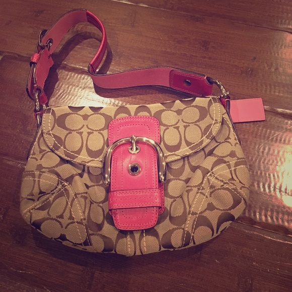 Brown And Red Coach Purse