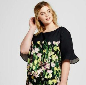 Victoria Beckham Tops - 23)Victoria Beckham Target flower print top - NWT