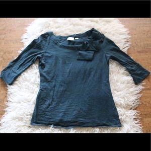 Anthropologie Tops - Anthropologie Postmark Bojagi Bow Shirt 3/4 sleeve
