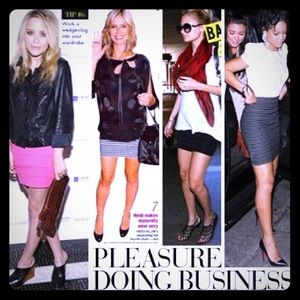 Pleasure Doing Business Dresses & Skirts - Black 5 Band Miniskirt