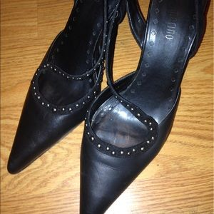 Ann Marino Shoes - Sexy cross studded leather heels !