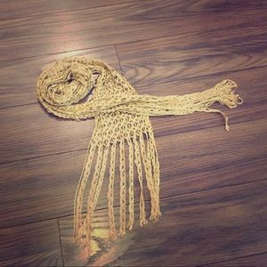 Accessories - Gold-tone woven fabric belt/ scarf