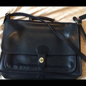 Vintage black COACH briefcase laptop