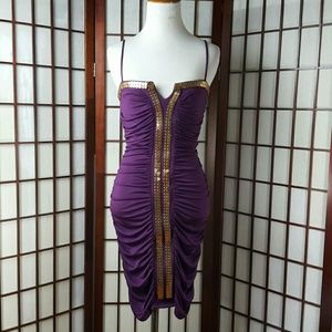 Baby Phat Dresses & Skirts - Purple Authentic BABY PHAT Bodycon Dress Size L