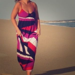 Graphic maxi dress