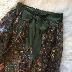 Dresses & Skirts - VINTAGE Sheer Maxi Bow Metallic Skirt
