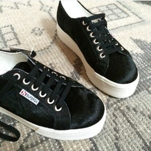 Superga Shoes - Superga platform pony hair sneakers