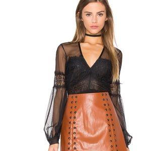 Bardot Tops - Lily Lace Bodysuit by Bardot