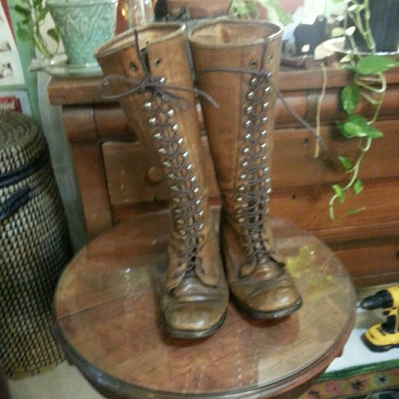 5988025bb Frye Shoes | Vintage Lace Up Campus Boots | Poshmark