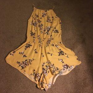 Brandy Melville Tops - Super rare yellow Brandy Melville romper