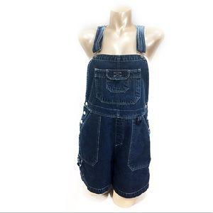 Denim - Vintage dark wash denim overalls boho/festival
