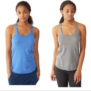 Alternative Apparel Tops - BLUE & GRAY Alternative Apparel Tank Tops