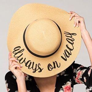 Accessories - Floppy sun hat beach hat sun hat always on vacay 2852ca8dfb3a