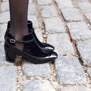 Valentino Shoes - Auth Valentino Velvet T Strap Mary Jane Booties
