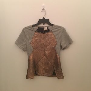 Angel Biba Tops - Two fabric shirt