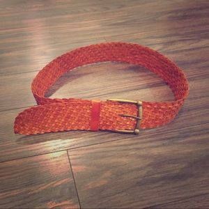 Accessories - Stunning woven leather belt in burnt orange