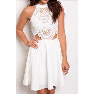 Dresses & Skirts - Just in! White Crochet Skater Dress