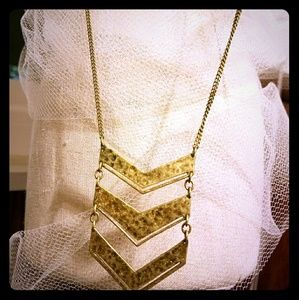 Silpada Jewelry - Chevron Brass Silpada Long Necklace