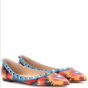 Valentino Shoes - VALENTINO 2016 Fall Wonderland Rockstud Flats NEW