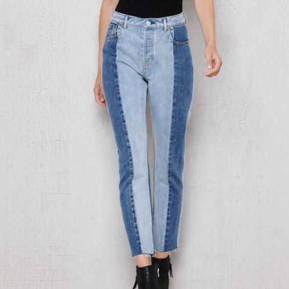 Pacsun two tone mom jeans. M 58fd866436d594a71111cc33 41211aae5395