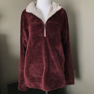 TRUE GRIT Other - True Grit Double Plush Pullover - Vintage Wine