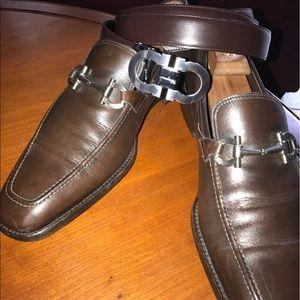 Ferragamo Other - Ferragamo Men shoes & belt Brown size 12