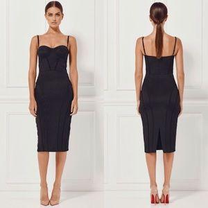 Nordstrom Dresses & Skirts - Jasmina Convertible Bustier Silk Midi Dress