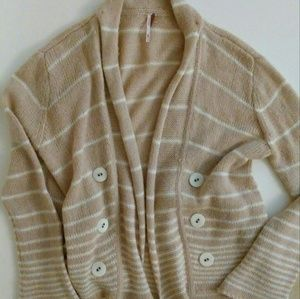 Free People Cardigan Sweater Wool Blend Open Front