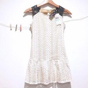 Xtraordinary Other - Sleeveless Lace Drop Waist Dress by Xtraordinary
