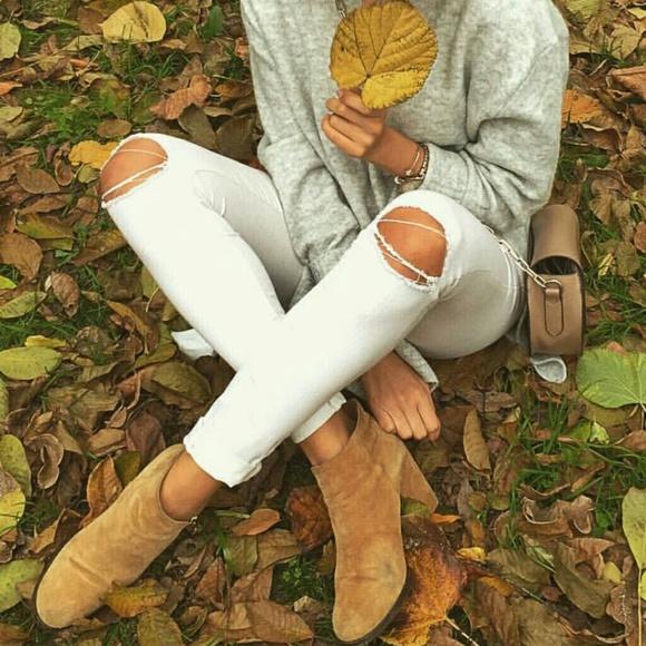 b05c7a2a Zara High Waist Skinny Jeans Ripped Knee White. M_58fd8c7d4e8d17162911ecbd