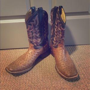 Tony Lama Other - Tony Lama Square-toe Ostrich boots
