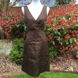 NWT J. Crew Serena Brown A-Line Dress
