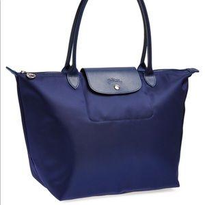 Longchamp Handbags - Longchamp large le pliage neo navy tote