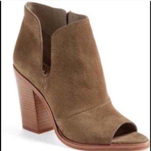Vince Camuto Shoes - Vince Camuto Katleen Peep Toe Booties Size 6.5