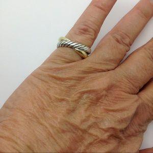 David Yurman Jewelry - David Yurman Sterling silver 18k unisex ring