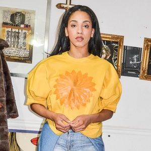 Tops - Yellow Big Sleeved Oversized Top