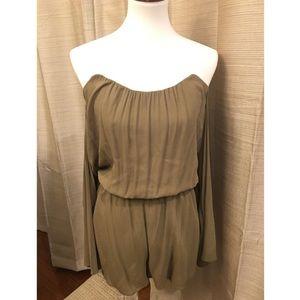 Olive green romper corset off shoulder