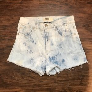 Garage Pants - Acid Wash Tie Die High Waisted Shorts Size 3