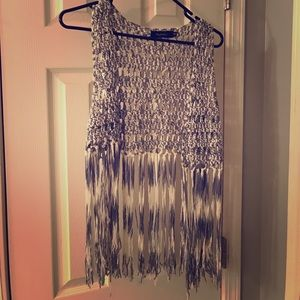 Magnolia Other - Boutique crochet fringe vest cardigan