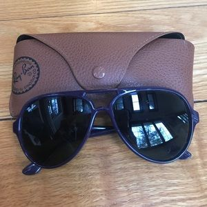 Ray-Ban Accessories - Authentic Ray-Ban 4125 Purple Aviator Sunglasses