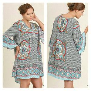Umgee Dresses & Skirts - ONLY 1 LEFT❣ V-Neck Boho Mini or Tunic
