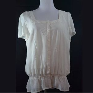 east 5th Tops - Ivory White Blouse Top