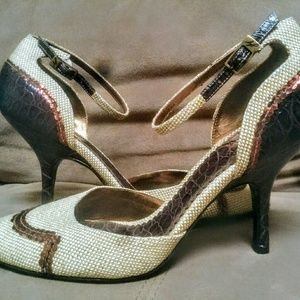 J. Vincent Shoes - Gorgeous! NWOB J. Vincent Mixed Media Heels