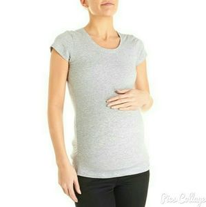 Ambiance Apparel Tops - Ambiance Maternity Gray Top - NWT